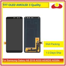 10 ชิ้น/ล็อต ORIGINAL สำหรับ Samsung Galaxy A8 2018 A530 A530F A530X จอ lcd หน้าจอแผง Digitizer Pantalla ที่สมบูรณ์แบบ