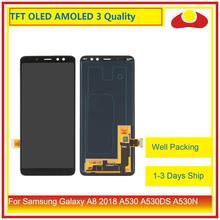 10 unids/lote ORIGINAL para Samsung Galaxy A8 2018 A530 A530F A530X Pantalla LCD con Pantalla táctil digitalizador Panel Pantalla Completa