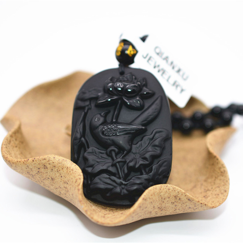 Jewelry & Accessories Straightforward Qianxu Black Obsidian Bird Necklace Pendant Lucky Bird Jade Pendant Jade Jewelry Fine Jewelry Suitable For Men And Women Of All Ages In All Seasons
