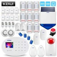 KERUI умный дом WI FI GSM охранной сигнализации Системы с Somke детектор утечки воды шок детектор утечки воды открытый Siren