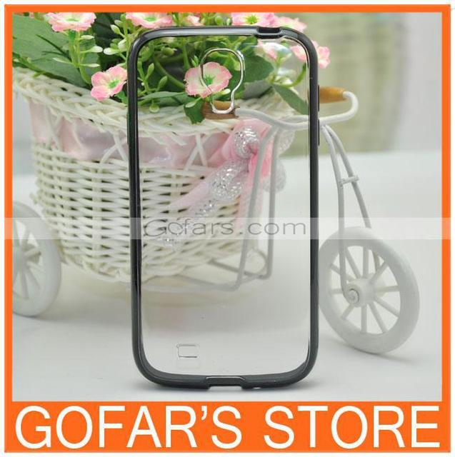 Transparent Clear PC TPU Hybrid Case for Samsung Galaxy S4 i9500 50pcs/Lot Top Quality