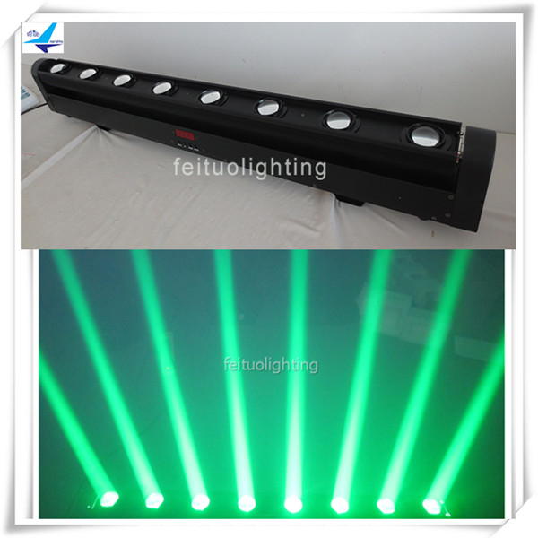 (4/lot)led stage blinder 8x10w rgbw 4in1 beam moving led blinder light strobe ...