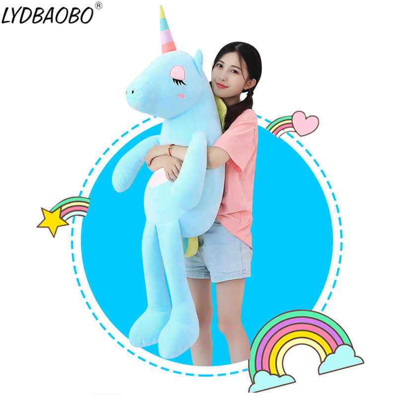 Rapture 1pc 60-160cm New Large Soft Unicorn Animal Plush Toy Stuffed Toy Girl Gift Childrens Toy Sofa Pillow Cushion Home Decoration Beautiful And Charming Dolls & Stuffed Toys