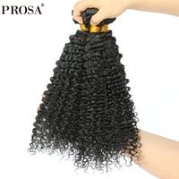 3B 3C Kinky Curly Hair Extension 3Pcs Brazilian Hair Weave Bundles Deals Hair Products Remy Human Hair Weaving Prosa