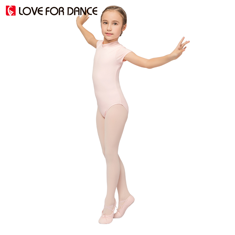 LOVE FOR DANCE 2017 Summer Girls Ballet Dancing Leotard Gymnastics Lycra Short Sleeve Chidren Kids Ballet Leotard Gymnastics