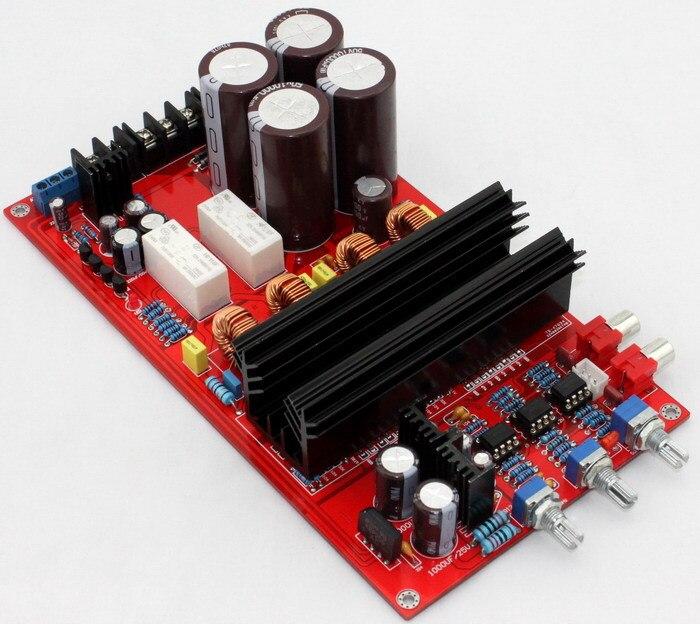 Carte d'amplificateur AC20-26V TDA8950 2.1/carte d'amplificateur classe-d (avec protection de haut-parleur BTL) utilisant l'original TDA8950TH NE5532