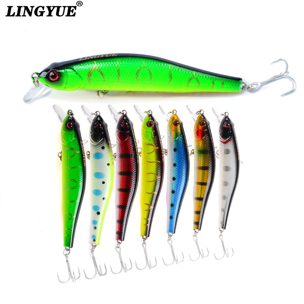 LINGYUE Fishing Lure 2018 New arrival Quality hooks 100MM/11.4g Sinking Artificial Bait Hard hot sale Wobbler minnow