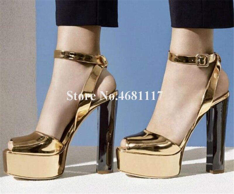 Kleid Peep Mode Schuhe Neue Pailletten Ferse Toe As Gold Sandalen Picture Rosa Chunky Plattform Frauen Hohe Club Picture High Heel as FqAAdwZx