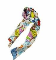 women summer silk scarf animal print scarf 50*150