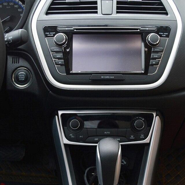 For Suzuki Sx4 S-Cross SX4 Crossover 2014-2016 ABS Matte Center Air Condition Control Panel Cover Trim Sticker Modling Trim