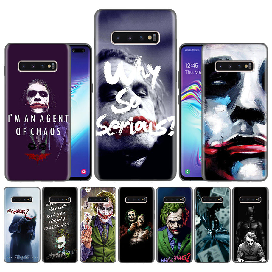 Case <font><b>Coque</b></font> for <font><b>Samsung</b></font> Galaxy S10 S9 S8 Plus 5G A30 A50 A70 A40 A20 <font><b>A10</b></font> Note 8 9 10 Cover Bags Falls Batman Joker The Dark Knigh image