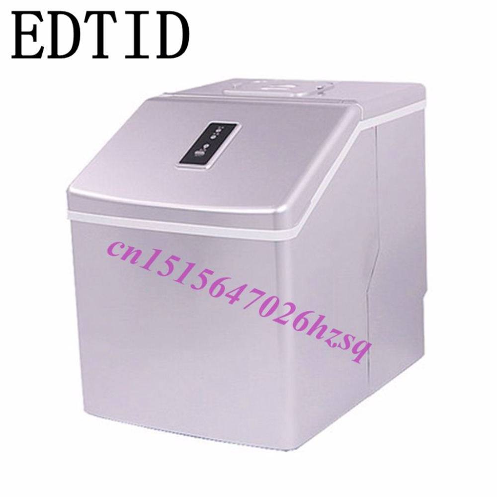 EDTID 20kg/24H Mini Automatic ice Maker, Household cube ice make machine for family, small bar,coffee shop edtid household bullet round ice making machine automatic commercial ice maker 12kgs 24h small bar coffee shop 110v eu us plug