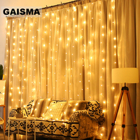 8M x 5M LED Christmas Decorations Curtain Lights Garland Wedding Fairy Lights Party New Year Garden Holiday Lighting Outdoor