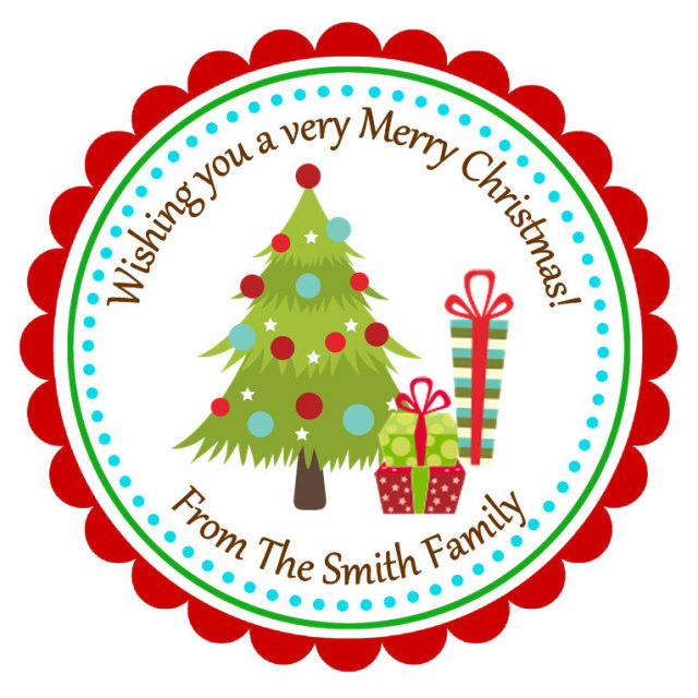 personalized christmas tree stickers christmas stickers holiday