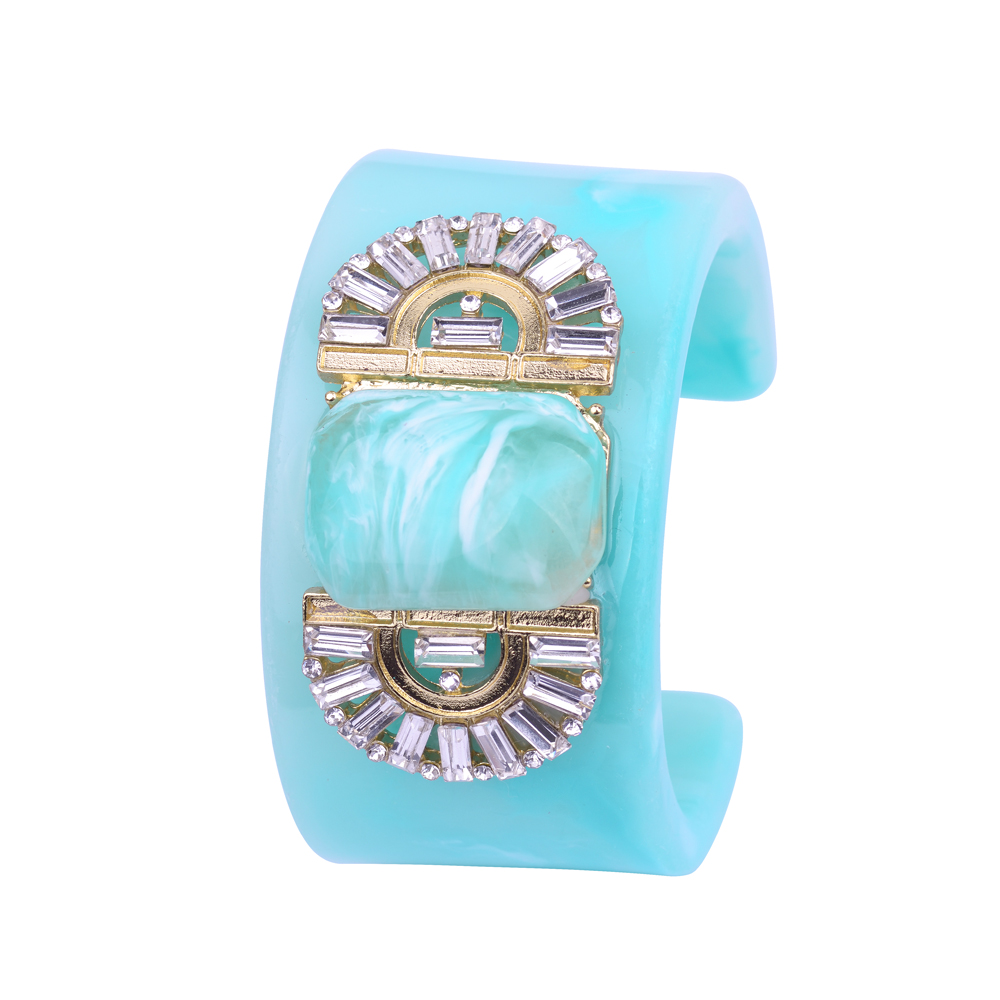 2017 New Fashion Natural Resin Casting Cuff Bangles Pulseiras Beautiful Wide Open Bracelets & Bangles For Women Gift Jewellery