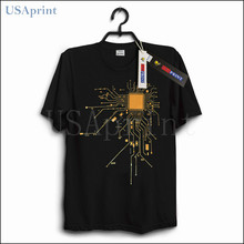 USAprint T Shirt Men CPU Core Heat Computer Workout Tops Streetwear Male T-shirt Basic Tees Casual Muscle Fit Dropship O Neck(China)