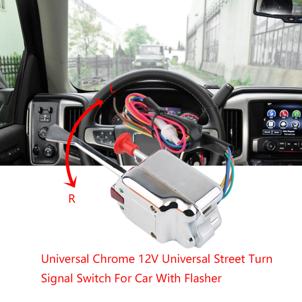 Professional Universal Chrome 12V Car Flasher Relay Fix LED Light Street Turn Signal Switch With Flasher Hyper Flash Car Styling
