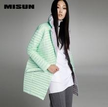 MISUN winter jacket women asymmetric length mantle type cocoon thin light single breasted long-sleeve outwear down coat & parkas