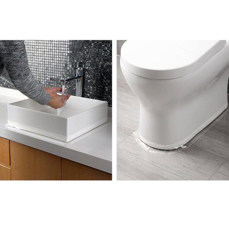 2/3/5 см Ванная комната Кухня полиэстер с защитой от Водонепроницаемый акриловая прозрачная лента раковина разрыв Туалет угловая линия этиленового пропилен-каучука прокладки Стикеры