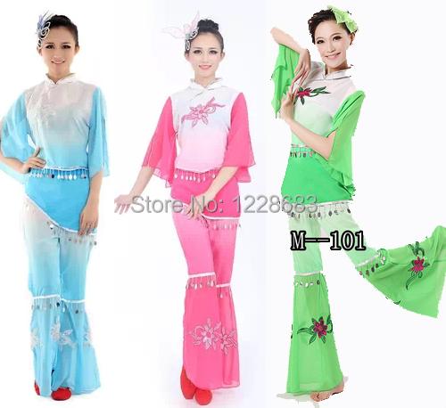 Envío de la Nueva 2014 de Las Mujeres Bordadas Niños Niñas Rosa Verde Azul Chino Hanfu Ropa Tang Vestido/Trajes De Baile Chino