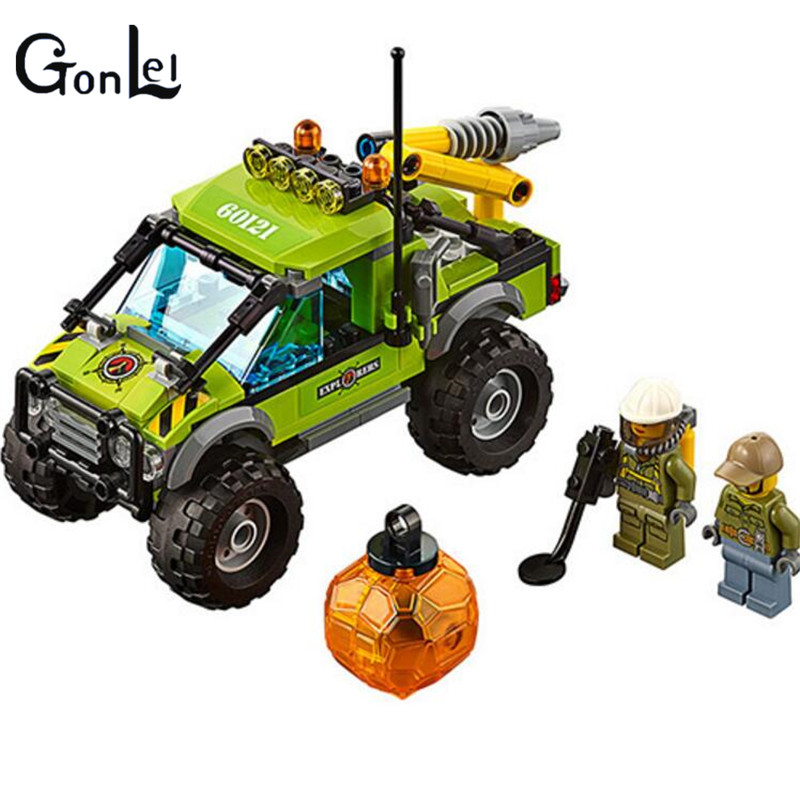 (GonLeI)10638 Bela City Series Volcano Exploration Truck Geological Prospecting Building Block Bricks Toys Gift For Children jie star fire ladder truck 3 kinds deformations city fire series building block toys for children diy assembled block toy 22024