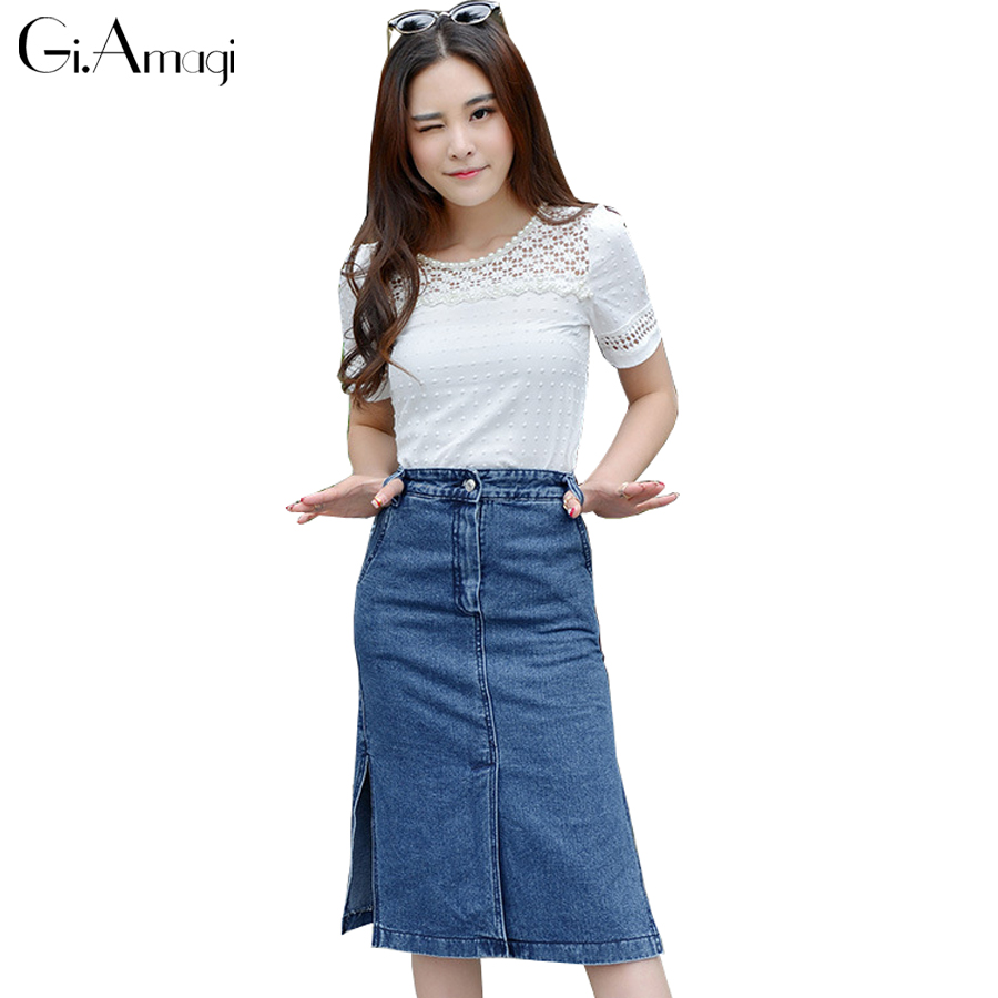 Popular Long Plus Size Jean Skirts-Buy Cheap Long Plus Size Jean ...