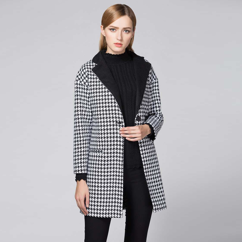 Popular Houndstooth Trench Coat-Buy Cheap Houndstooth Trench Coat ...