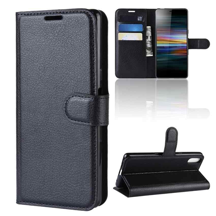 لسوني اريكسون L3 حالة سوني L3 حالة محفظة قلابة حقيبة هاتف من الجلد المصقول لسوني اريكسون L3 واقي للشاشة الحقيبة محفظة حالة