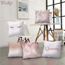 FENGRISE Cotton Linen Pillow Case Cushion Cover Christmas Decorative Pillows Pillowcase Home Covers Sofa
