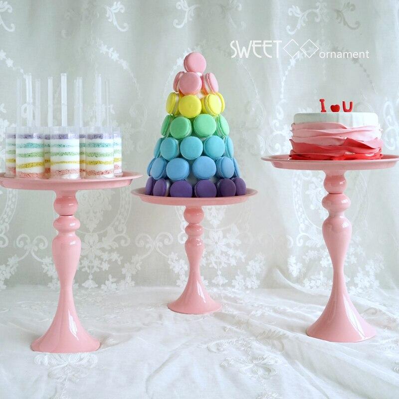 Rose gâteau stand support Cupcake outils accessoire pour de noce rose Ustensiles de Cuisson outils décoration de table dans Béquilles de Maison & Jardin