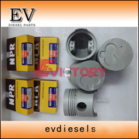 Zylinder Liner kit Für Isuzu dieselmotor C240 kolben kolbenringzylinderlaufbuchse Kolben  Ringe  Stäbe & Teile Kraftfahrzeuge und Motorräder -