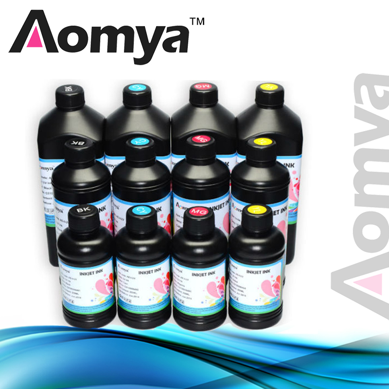 500ml 6Bottles/Set LED Flexible UV Ink For Epson R280 R290 R330 L800 1390 1400 UV Printer DX5 DX7 UV Led Ink (BK C M Y 2White) 5 x 500ml aomya led uv ink universal uv led ink for uv flatbed printer 3d compatible for epson 1390 1400 1410 l800 r290 r330