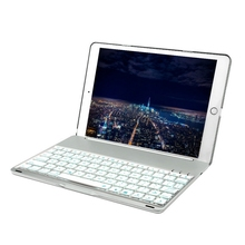 Bluetooth Keyboard for Apple iPad 9.7 LED Backlit with Protective Case Cover