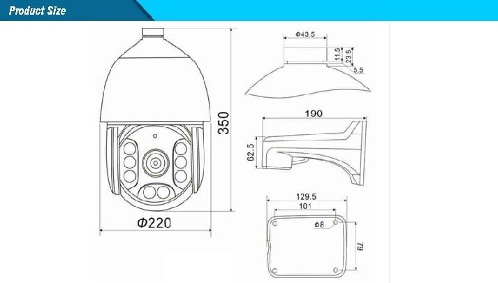 AHD IR High Speed Dome Camera