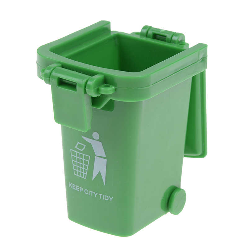 3 Buah/Bungkus Tempat Sampah Kreatif Mainan Truk Sampah Kaleng Mini Tepi Jalan Kendaraan Bin Mainan