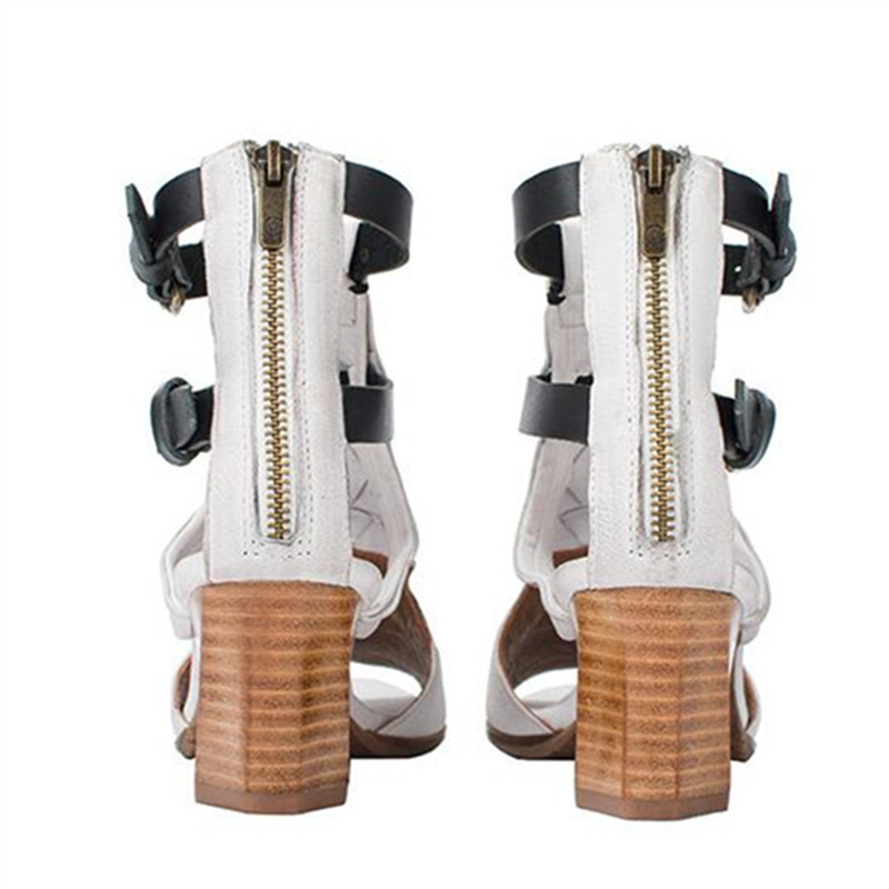 6d65edef7b Jady Rose 2019 New White Women Summer Gladiator Sandals Female Peep ...