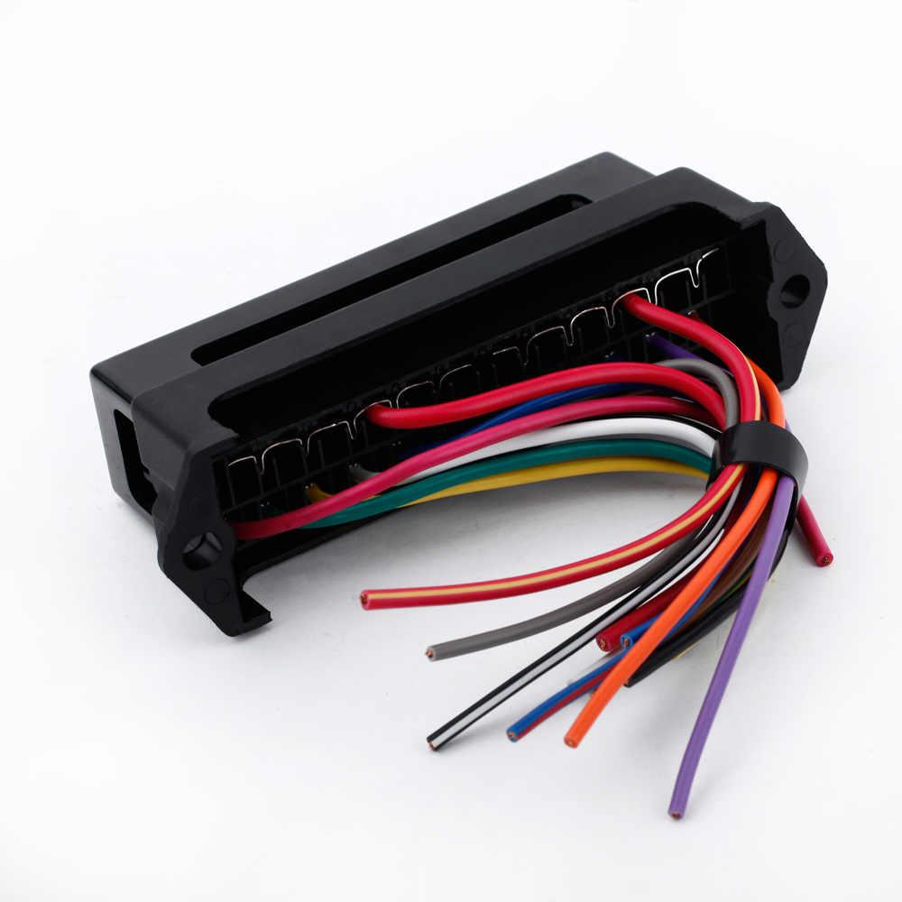 12 way dc 12v volt fuse box 24v 32v circuit car trailer auto blade fuse box  [ 1000 x 1000 Pixel ]