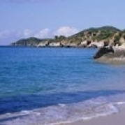 Boulders On The Beach  The Baths  Virgin Gorda  British Virgin Islands Poster Print (18 x 6)
