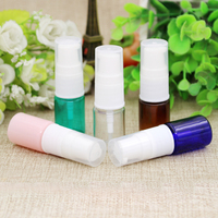 10/50/100pcs Empty 5ml Plastic Cosmetic Lotion Press Pump Bottle Refillable Container Travel Sample Sack Trial Vials Semi cover