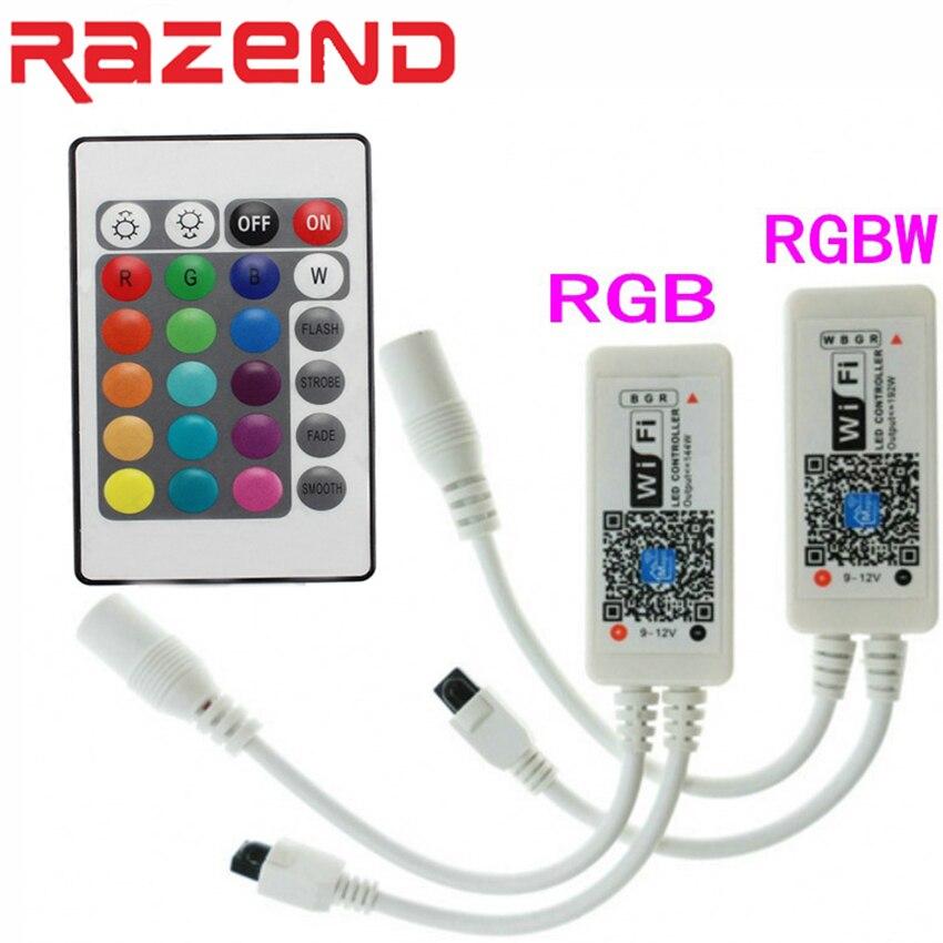 Wifi RGB RGBW LED Controller Mini DC12V RF 24Key Fernbedienung Für RGB RGBW Led-streifen-lichter DC5-28V