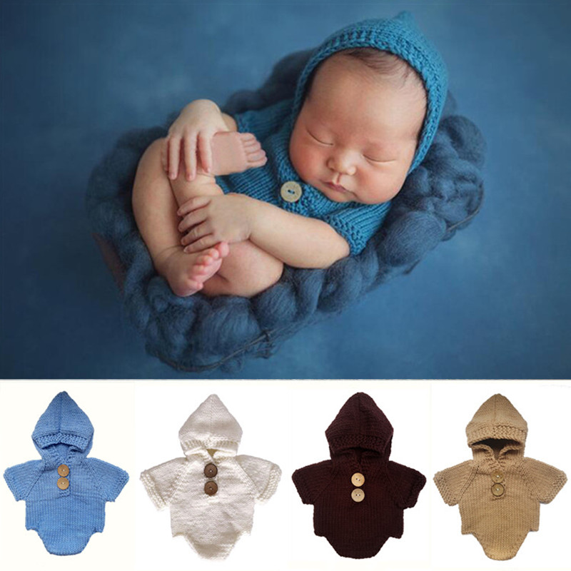 Newborn Baby Photography Props Accessories Baby Photography Clothing Baby Photo Prop Accessory Crochet Baby Gifts Knit Jumpsuits