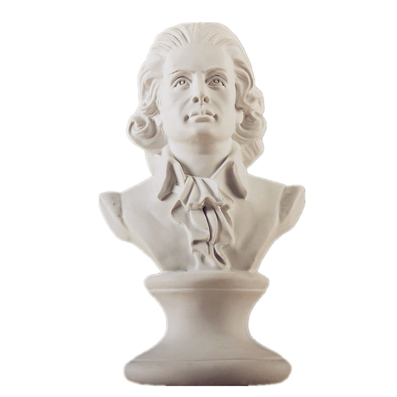 Wolfgang Amadeus Mozart Head Portraits Bust Classical Period Statue Home Decoration Resin Craftwork Creative Gift L1598
