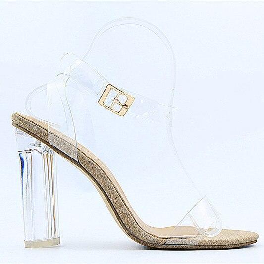 Gladiateur Pompes Clair Picture Sexy Gelée De Sandales Chaussures Dames Pvc Talons Choo Cristal Boucle As Eunice Sangle D'été Hauts Transparent À xAIqPgU0