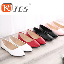 KHJGS 2016 woman shoes flat-on GIrls Mujer Pregnant Woman Travel Shoes Patent PU Flat Shoes Women's Plus Size Shoe  508-KAY