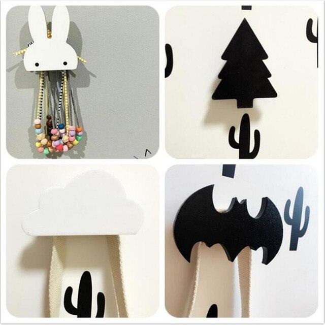 Baby Child Kids Room Wooden Wall Hooks Decorative Door
