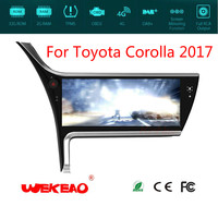 Wekeao 12.3 Car GPS Navigation Player For Toyota Corolla 2017 Support Multimedia Stereo Radio System Octa Core Android 7.1