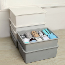Partition Underwear Storage Box For Socks Organizer Plastic Underpants Container Separated Bra Finishing