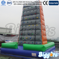 Hot sale factory direct inflatable climbing wall outdoor sport games for kids