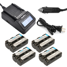DuraPro 4Pcs NP-FM500h Battery + LCD Fast Charger for Sony Alpha A58 A350A300/A350/A450/A500/A550/A580/A700/A99/A850 SLT-A57