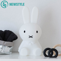 Cute Rabbit LED Night Light Children Bedroom Night Lamp Dimmable Cartoon Decorative Lamp For Baby Birthday